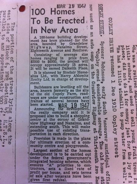 March 19, 1947 Copley